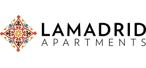La Madrid Apartments Logo, Link to Home Page
